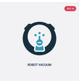 two color robot vacuum icon from technology vector image