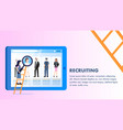 various occupation employee profile laptop screen vector image vector image