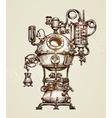 Vintage distillation apparatus sketch Moonshining vector image