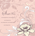 Wedding card or invitation with abstract floral ba vector image
