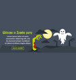 welcome to zombie party banner horizontal concept vector image vector image