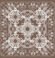 white delicate oriental lace on beige background