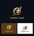 world orbit gold technology logo vector image vector image