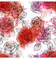 Flower Seamless Hand Drawn Pattern vector image