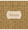 Wood Background With Menu vector image