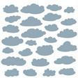 cloud silhouettes collection set of clouds vector image