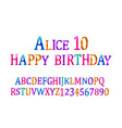 alice 10 font childrens vector image vector image