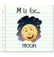 Alphabet M is for moon vector image