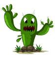 angry cactus vector image vector image