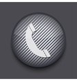 app circle striped icon on gray background Eps10 vector image vector image