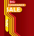 big clearance sale banner vector image vector image