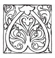 bronze ornament from aachen is in ninth century vector image vector image
