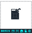 canister icon flat vector image