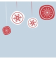 Christmas background with New years ornaments vector image