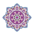 colored floral mandala vector image vector image