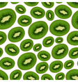 colorful sliced kiwi fruits seamless pattern eps10 vector image vector image