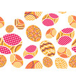 easter eggs seamless pattern happy easter festive vector image vector image
