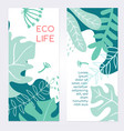 eco life - set modern abstract vertical banners vector image