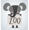 Elephant wild cartoon animal holding clean welcome vector image vector image