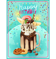 Extreme Freakshake Birthday Party Announcement vector image vector image