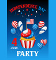 fourth july independence day party banner vector image vector image