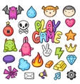 Game kawaii collection Cute gaming design vector image