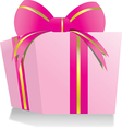 giftbox pink vector image vector image