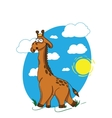 Giraffe walking through the savanna vector image