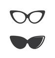 glasses symbol icon design vector image vector image