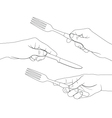 hand set 8 vector image vector image