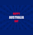 happy australia day 26th january greeting card vector image vector image