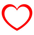 heart red color with full fill in center vector image vector image