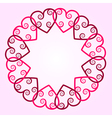 Heart with swirls round background vector image