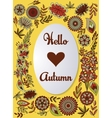 Hello autumn background colorful vector image vector image