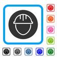 helmet circle framed icon vector image