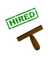 hired rubber stamp top view vector image vector image