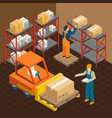 in the warehouse composition vector image vector image