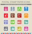 lifting machines icon set vector image vector image
