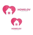 logo combination of a heart and house vector image