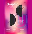 minimal geometric pattern gradients vector image