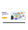 online money transfer to wallet concept using app vector image