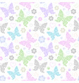 pattern with floral butterflies vector image vector image