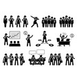 professional businesswoman or business lady stick vector image