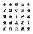 project management glyph icons vector image vector image