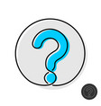 question mark icon thin mono line design style vector image vector image