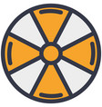 radioactive contamination warning icon vector image