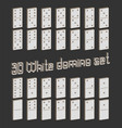 realistic dominoes full set 28 3d flat pieces for vector image vector image
