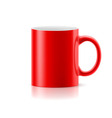 Red mug on white vector image vector image