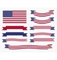 Red white blue american flag ribbon and banner