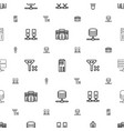 remote icons pattern seamless white background vector image vector image